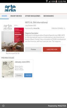 ARTE AL DIA International poster