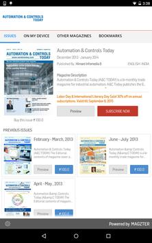 Automation & Controls Today poster