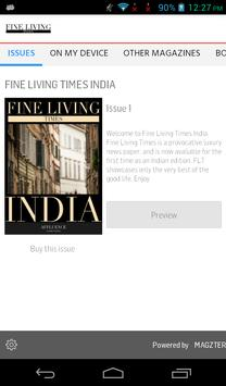 Fine Living Times India poster