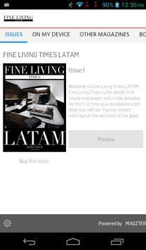 Fine Living Times Latam poster