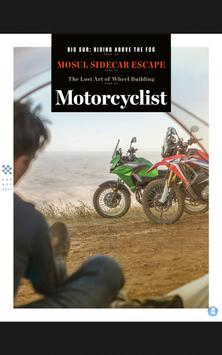 Motorcyclist poster