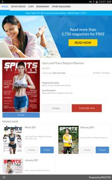 Sports and Fitness Magazine poster