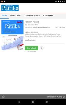 Passport Patrika poster