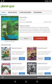 Planet Goa magazine poster