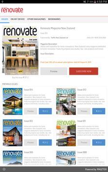 Renovate Magazine New Zealand poster