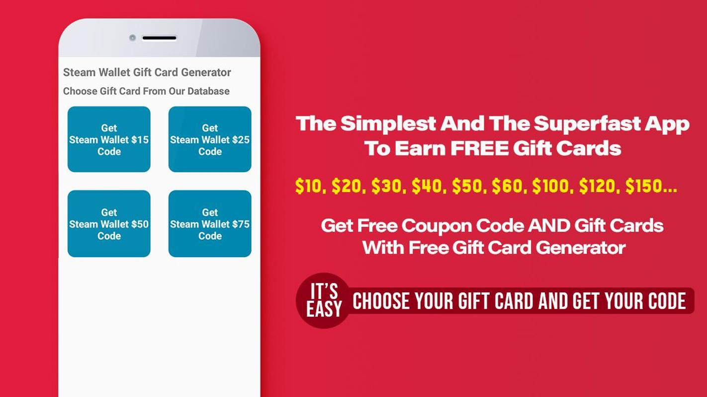 Free Generator Gift Card For Android Apk Download Steam Wallet 2 Screenshot