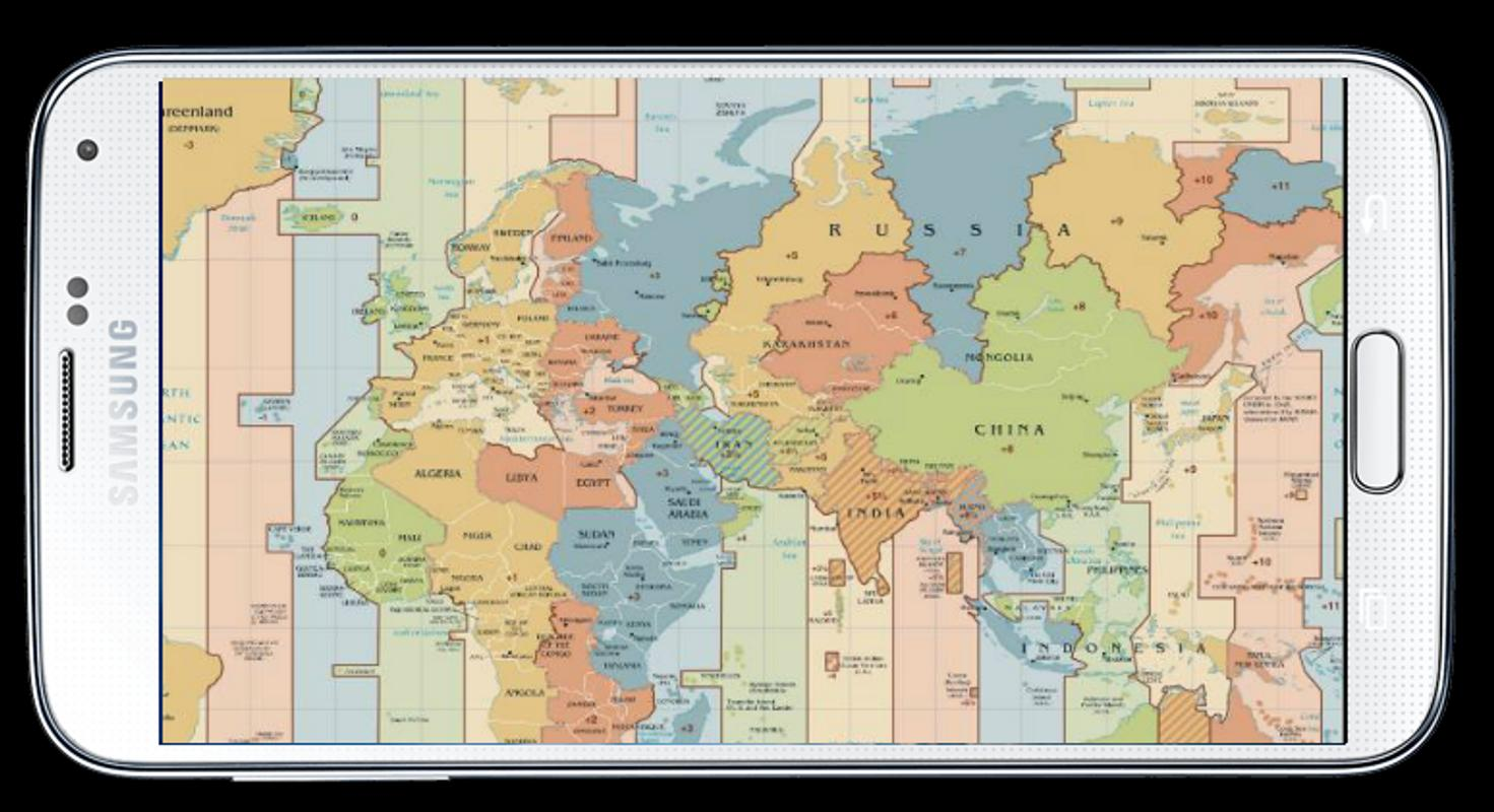 World Map Time Zone For Android Apk Download