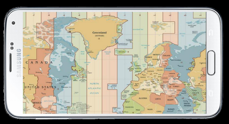 World Map Time Zone für Android - APK herunterladen