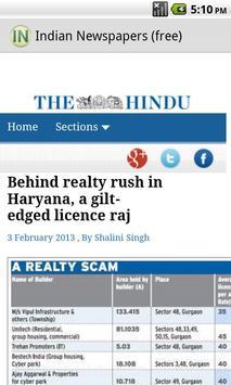 Indian Newspapers (free) apk screenshot