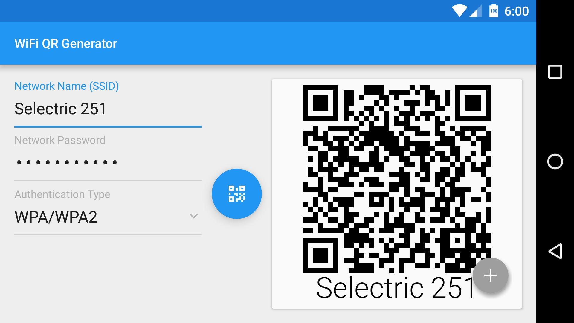 Wifi QR Code Generator for Android - APK Download