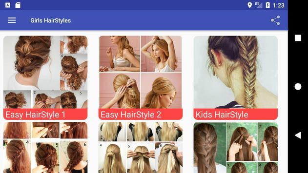 5000+ Girls HairStyles HD Step by Step (Offline) screenshot 13