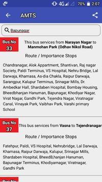 AMTS Ahmedabad route/stop info screenshot 4