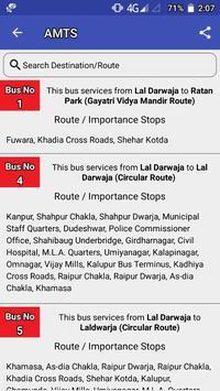 AMTS Ahmedabad route/stop info screenshot 2