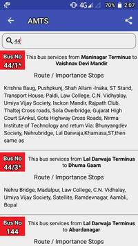 AMTS Ahmedabad route/stop info screenshot 3