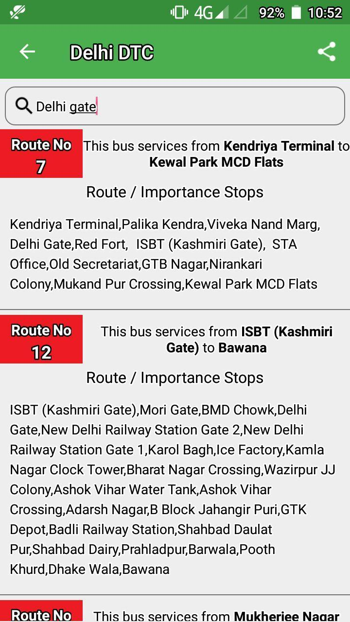 Delhi DTC Bus - Timing & Routes for Android - APK Download