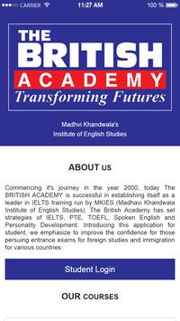 IELTS - The British Academy poster