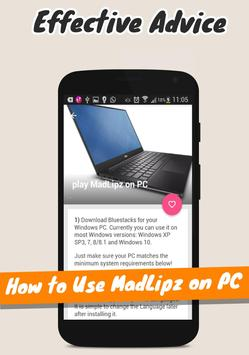 Guide for MadLipz PRO apk screenshot