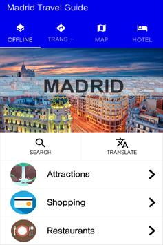 Madrid Travel Guide poster