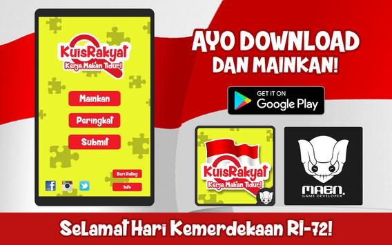 Kuis Rakyat poster