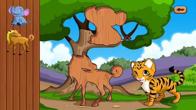 Baby Animals & Jigsaw Puzzles for toddlers and kid apk screenshot