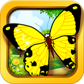 Butterfly jigsaw kids games icon