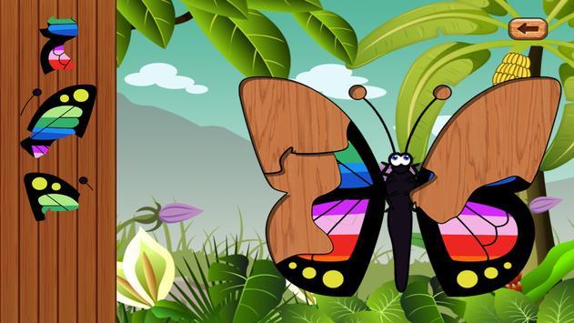 Butterfly jigsaw kids games screenshot 2