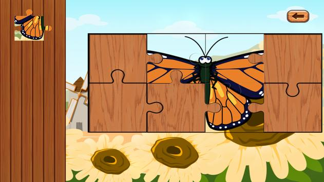 Butterfly jigsaw kids games apk screenshot