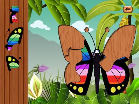 Butterfly jigsaw kids games screenshot 8