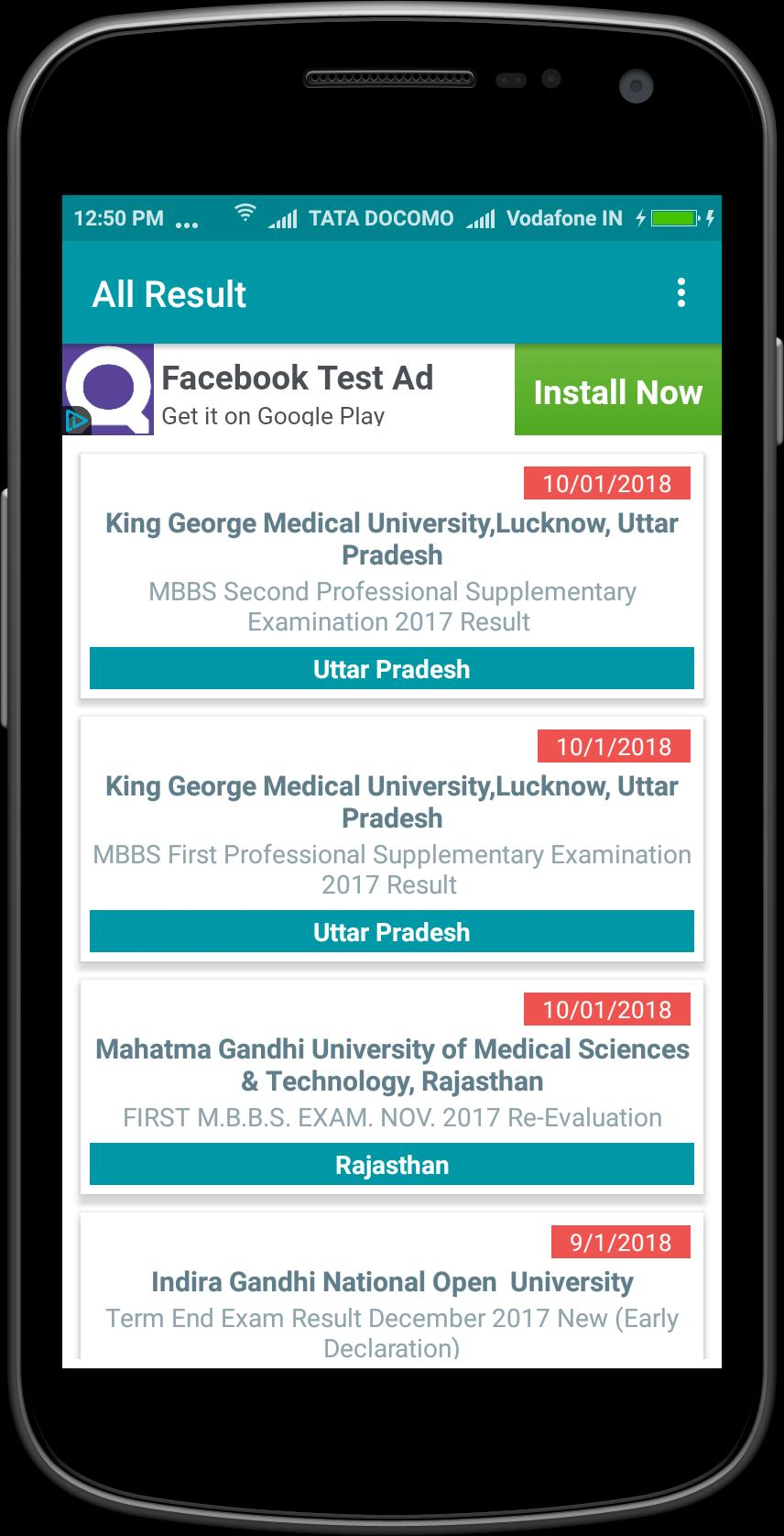 All India Results for Android - APK Download