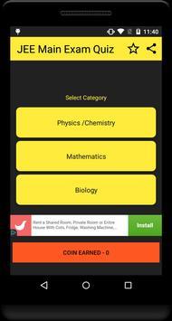 JEE Main Exam Quiz screenshot 5