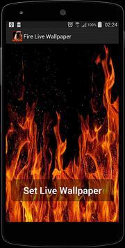 Fire Screen Live Wallpaper screenshot 1