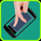 Running track for Finger icon