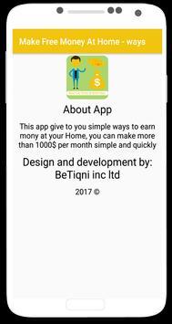 Make Free Money At Home - ways screenshot 3