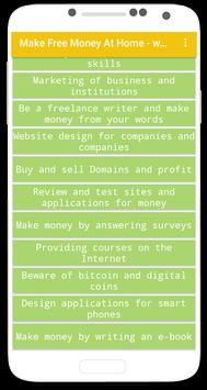 Make Free Money At Home - ways screenshot 1