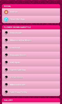 Flower Crown Hairstyle poster