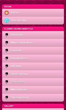 Flower Crown Hairstyle screenshot 14