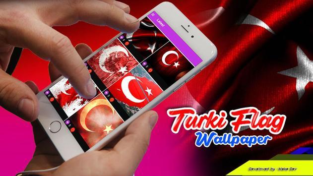 Turki Flag Wallpaper poster