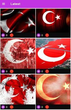 Turki Flag Wallpaper screenshot 2