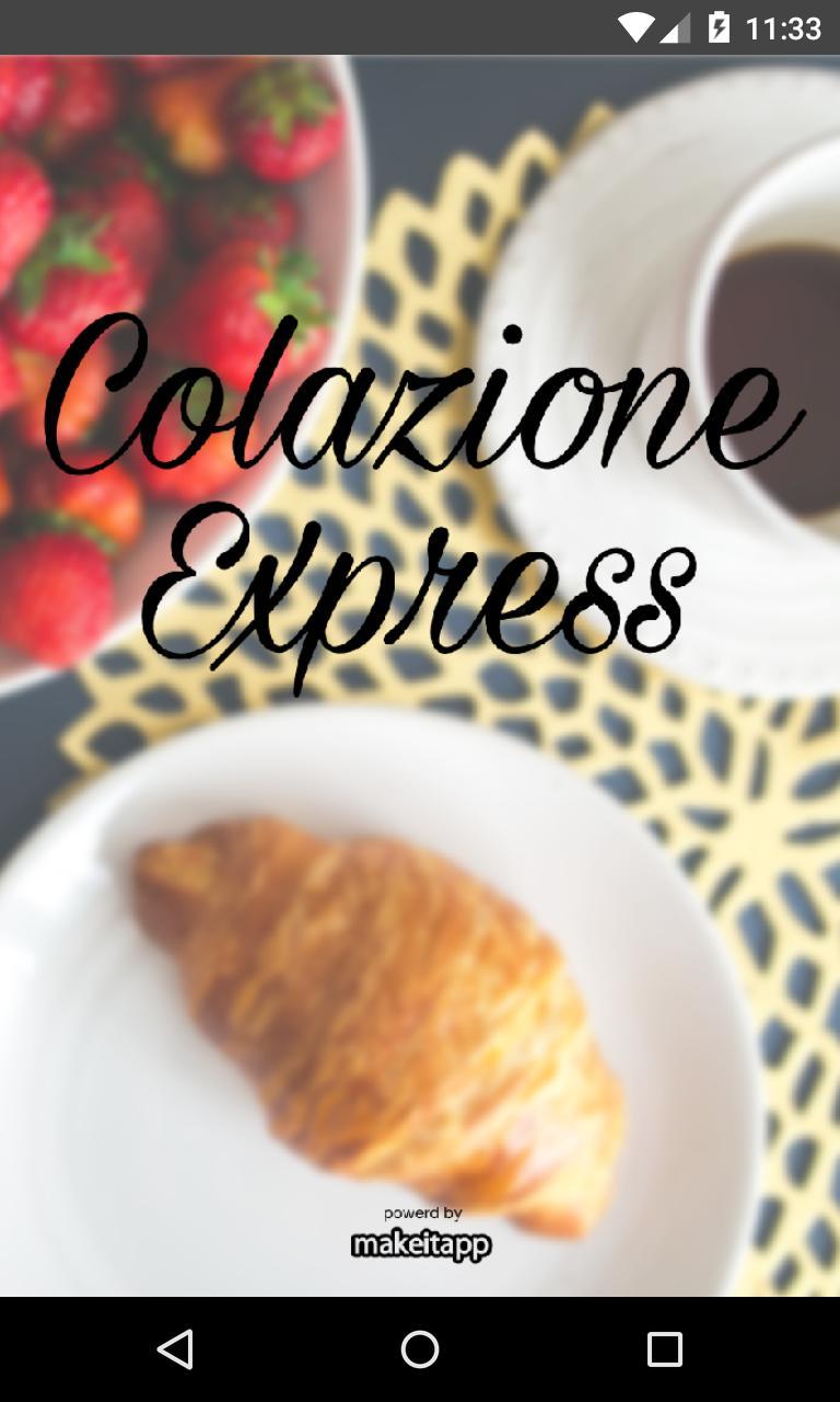 Colazione Express poster