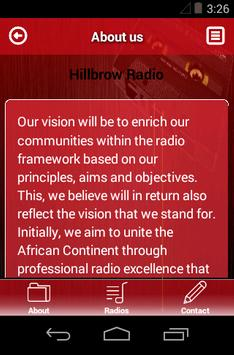 HillbrowRadio screenshot 2