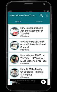 Make Money From Youtube Guide apk screenshot