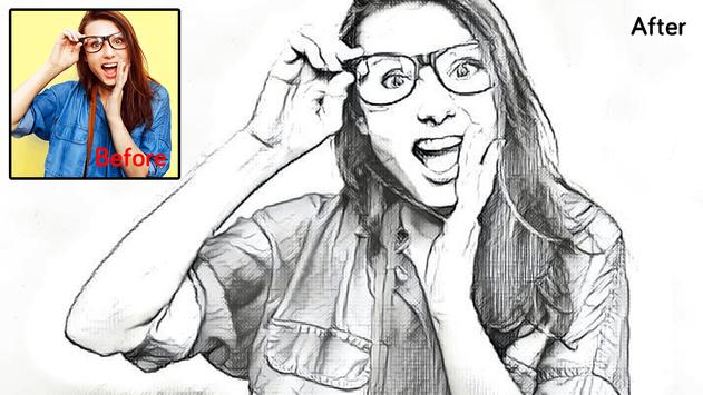 Sketch by pencil photo sketch maker poster