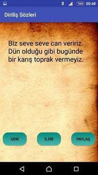 Diriliş sözleri apk screenshot