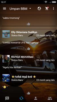 BBM Transparan Versi Modif apk screenshot