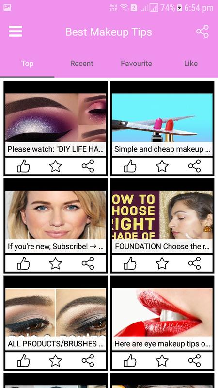 Beauty parlour course videos: makeup tips app for android apk.