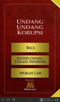 UU Tindak Pidana Korupsi poster