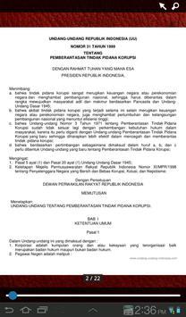 UU Tindak Pidana Korupsi apk screenshot
