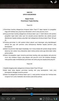 UU Hukum Acara Pidana apk screenshot