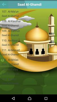 Al Qu'ran MP3 Player القرآن imagem de tela 5