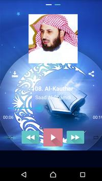 Al Qu'ran MP3 Player القرآن imagem de tela 3